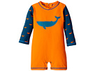 Hatley Kids Tiny Whales Mini Rashguard One-Piece (Infant)