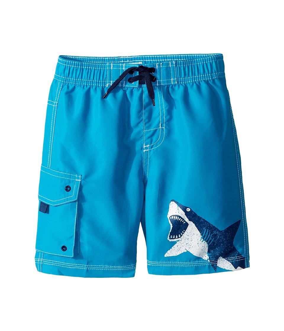 Hatley Kids Shark Alley Boardshorts (Toddler/Little Kids/Big Kids) (Blue) Boy