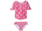 Hatley Kids Pink Medallions Rashguard Set (Toddler/Little Kids/Big Kids)