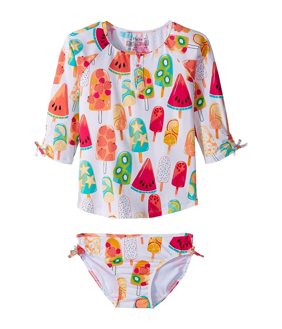Hatley Kids Fruity Lollies Rashguard Set (Toddler/Little Kids/Big Kids) (White) Girl