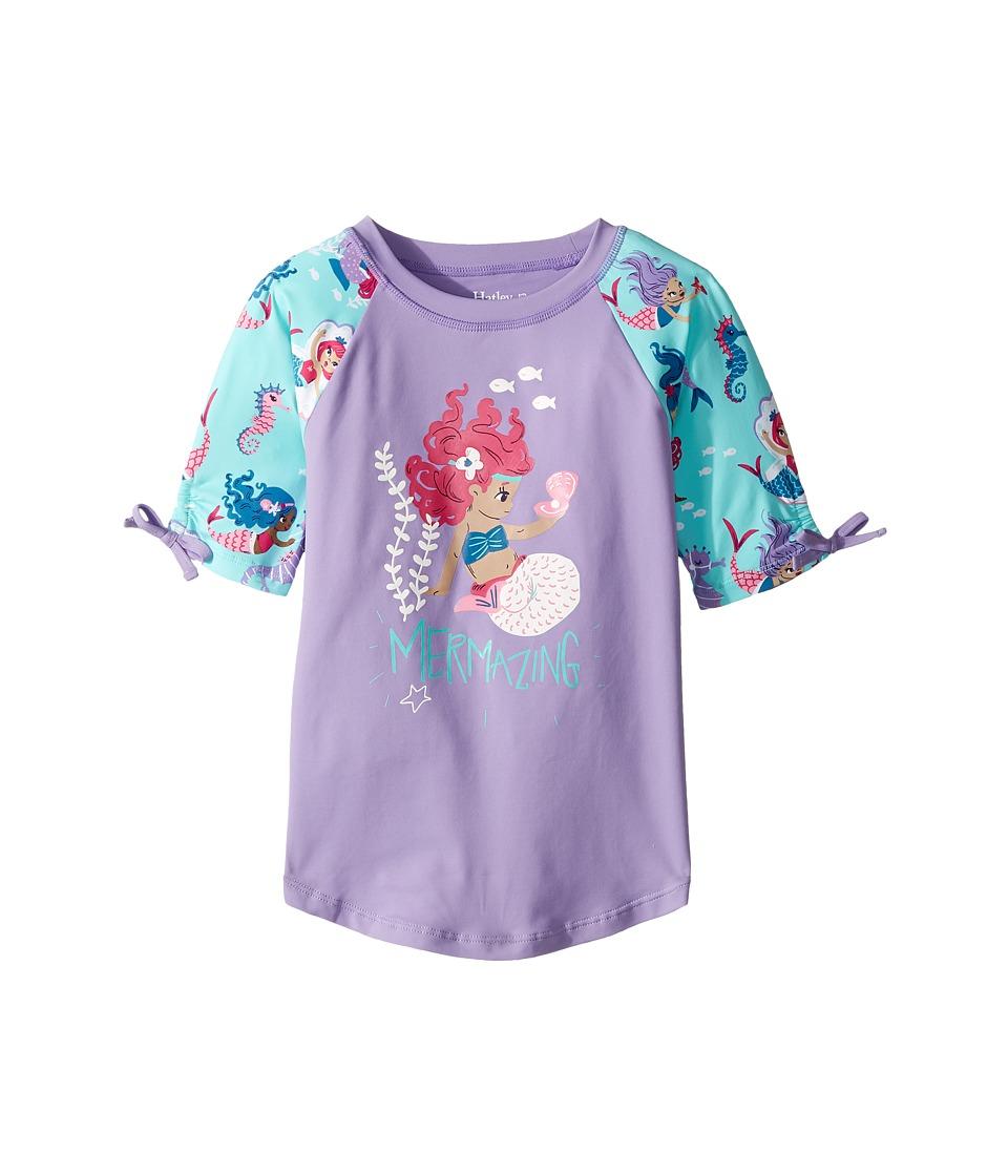 Hatley Kids Underwater Kingdom Short Sleeve Rashguard (Toddler/Little Kids/Big Kids) (Purple) Girl