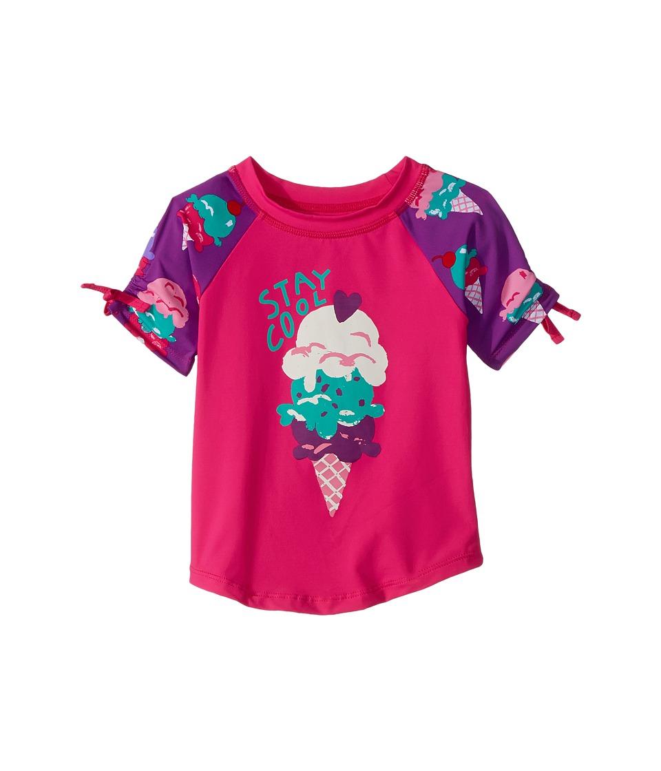 Hatley Kids Ice Cream Treats Short Sleeve Rashguard (Toddler/Little Kids/Big Kids) (Pink) Girl