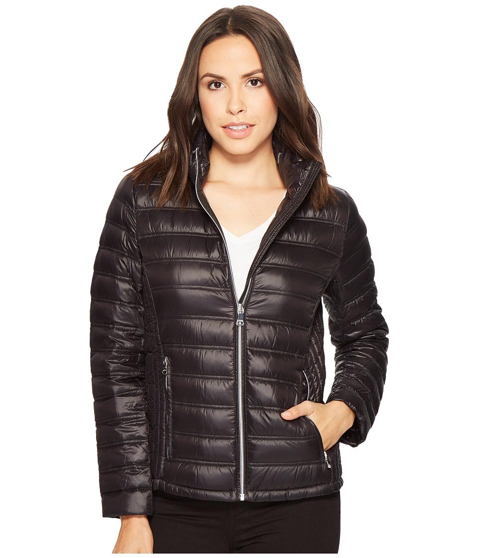 Calvin Klein Short Packable Down with Hood (Black) Women'...