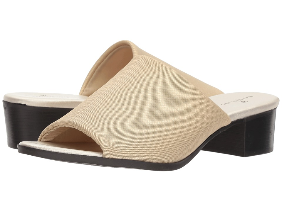 Bandolino Evelia (Gold Metallic Stretch Mesh) Slides