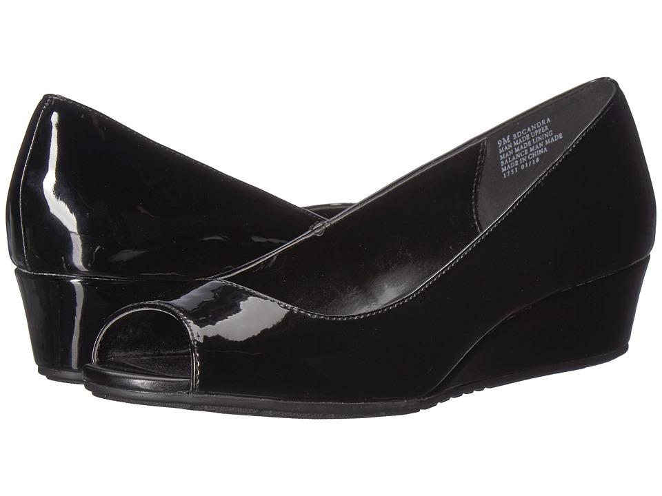 Bandolino Candra (Black Patent Sleek Patent PU) Women