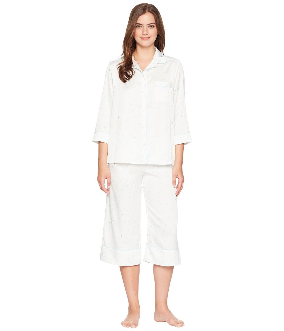 Kate Spade New York - Gold Dot Satin Cropped Pajama Set (Gold Dot) Womens Pajama Sets