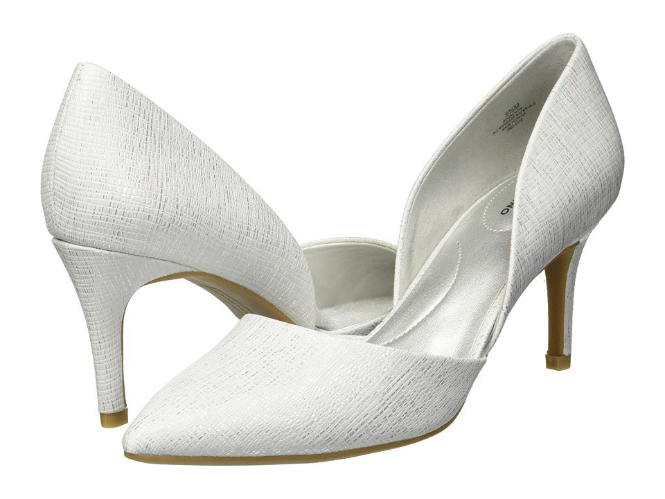Bandolino Grenow D'Orsay Pump (White Antigua Metallic) Women's Shoes