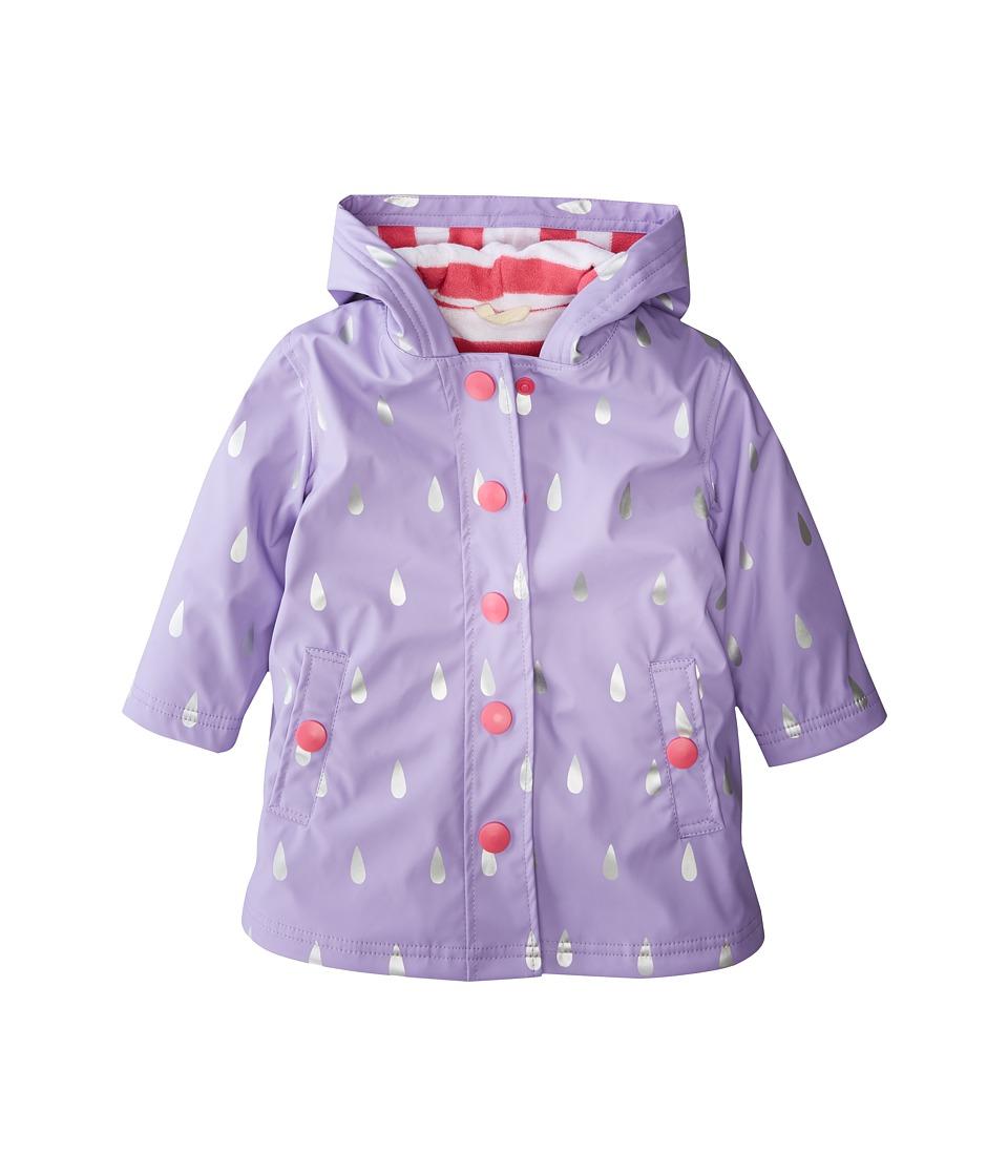 Hatley Kids Silver Raindrops Splash Jacket (Toddler/Little Kids/Big Kids) (Purple) Girl