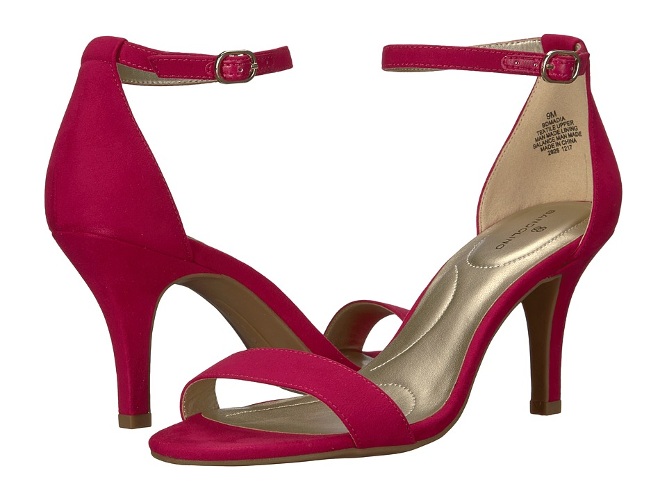 Bandolino Madia (Raspberry Fabric Faux Suede) High Heels