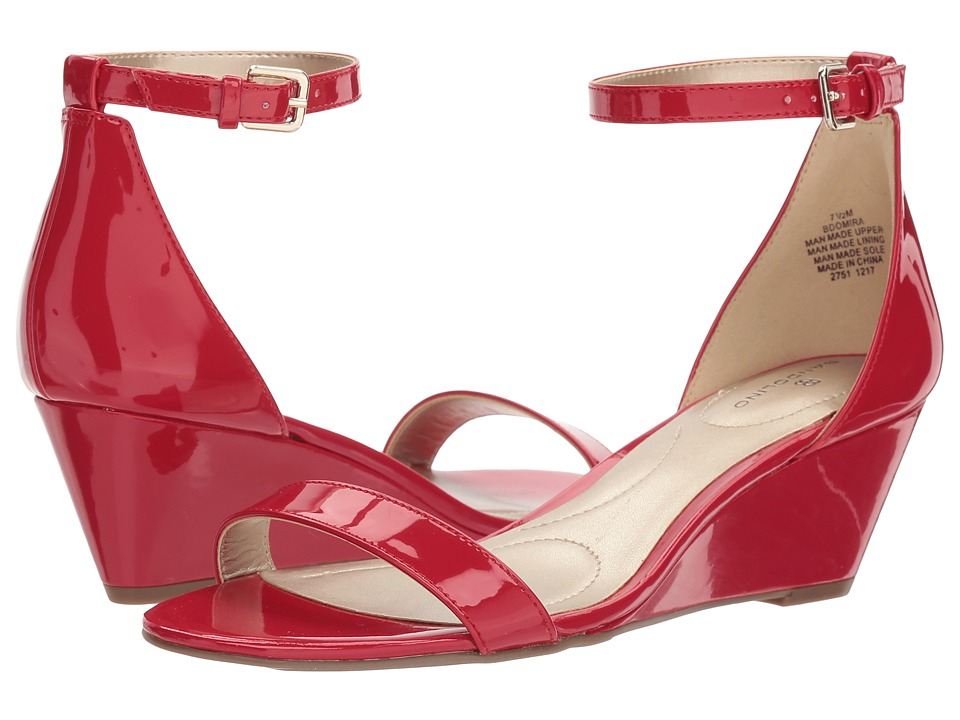 Bandolino Omira (Crimson Sleek Patent PU) Wedges