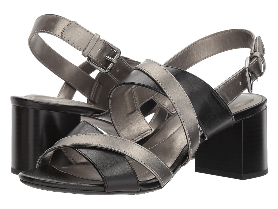 Bandolino Stepa (Black/Gunmetal Oscar Light) Women's Shoes