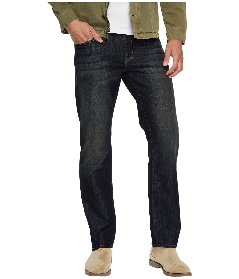 Mavi Jeans Zach Regular Rise Straight Leg in Deep Brushed Stanford (Deep Brushed Stanford) Men