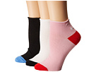 Kate Spade New York Kate Spade New York Left Right 3-Pack Anklet Socks