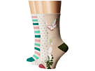 Kate Spade New York Botanical 3-Pack Trouser Socks