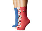 Kate Spade New York Strawberry Rib 3-Pack Trouser Socks