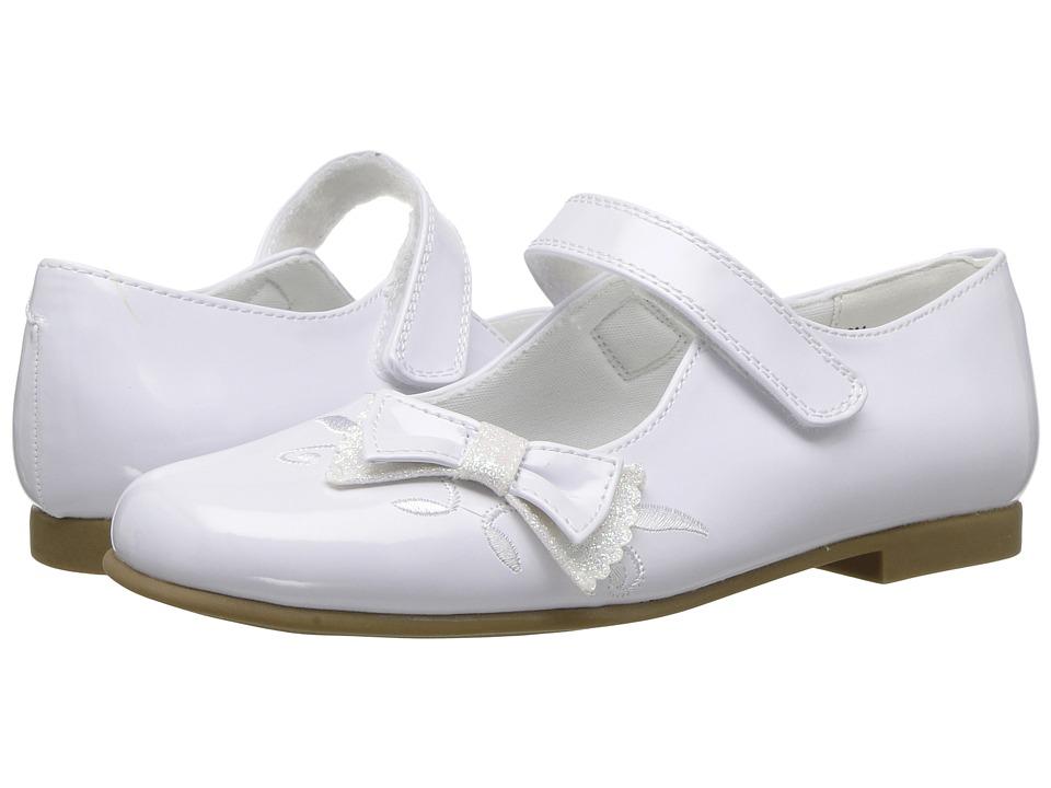 Rachel Kids Farah (Little Kid) (White Patent) Girl's Shoes