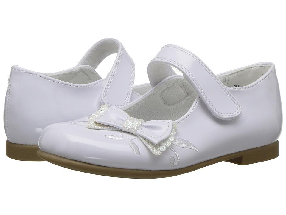 Rachel Kids Lil Farah (Toddler) (White Patent) Girl's Shoes