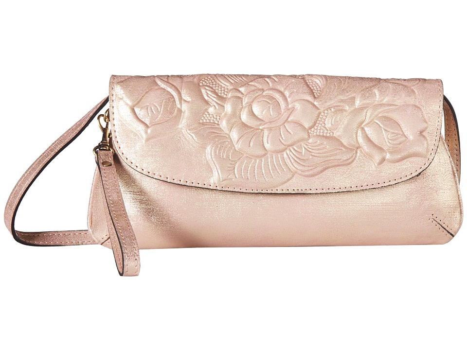 Patricia Nash - Baku Crossbody Clutch (Pink Metallic) Clutch Handbags