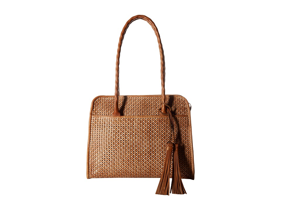 Patricia Nash - Large Paris Satchel Vegtan Woven (Sand) Satchel Handbags