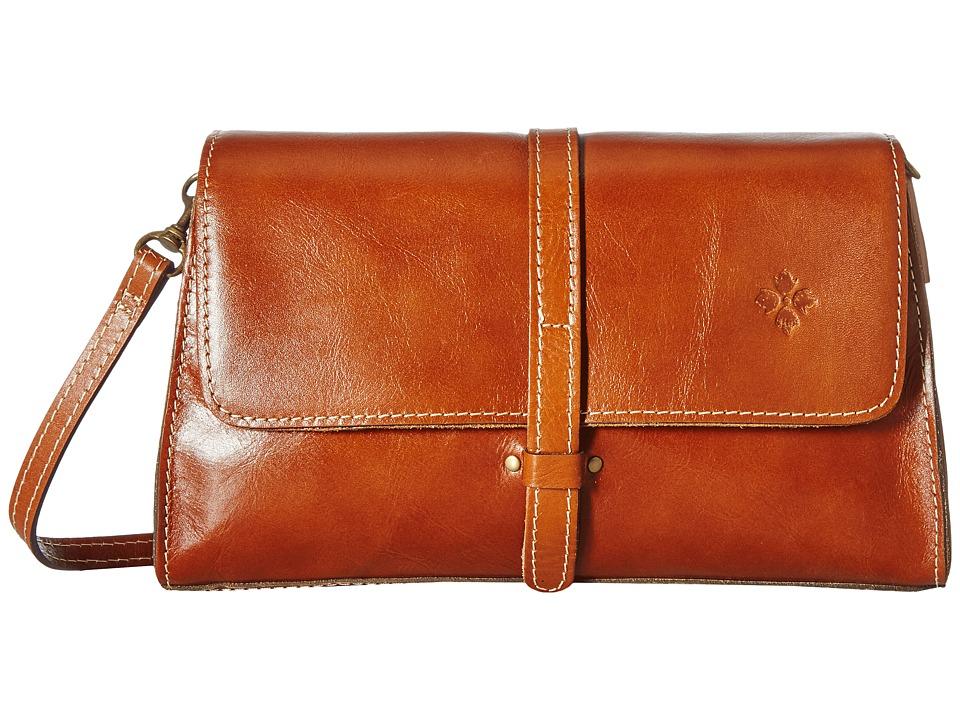 Patricia Nash - Tijola Flap Crossbody (Tan) Cross Body Handbags