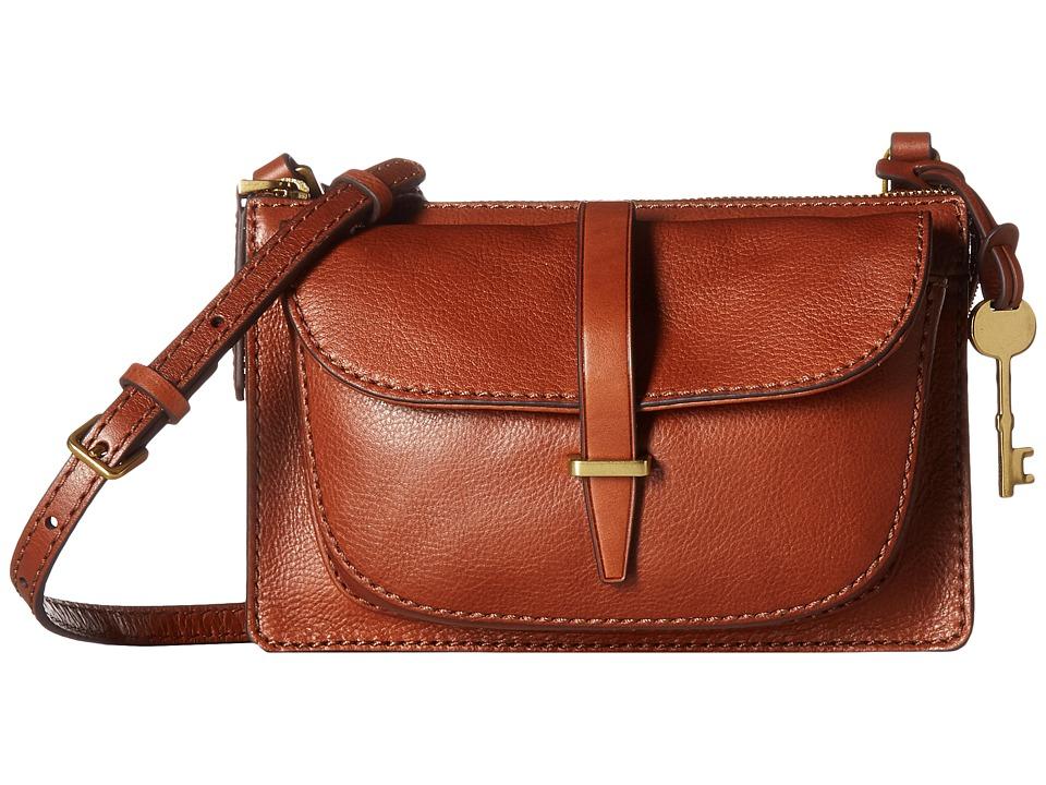 Fossil - Ryder Small Crossbody (Brown) Cross Body Handbags