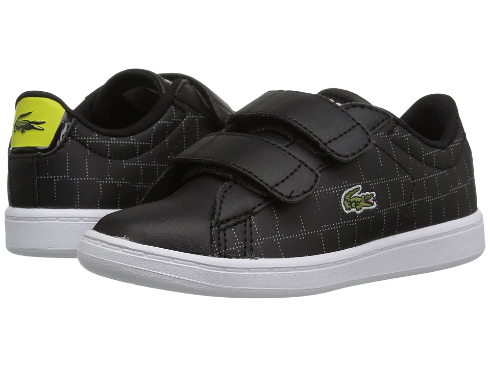Lacoste Kids - Carnaby Evo HL (Toddler/Little Kid) (Black/Fluorescent Yellow) Kids Shoes