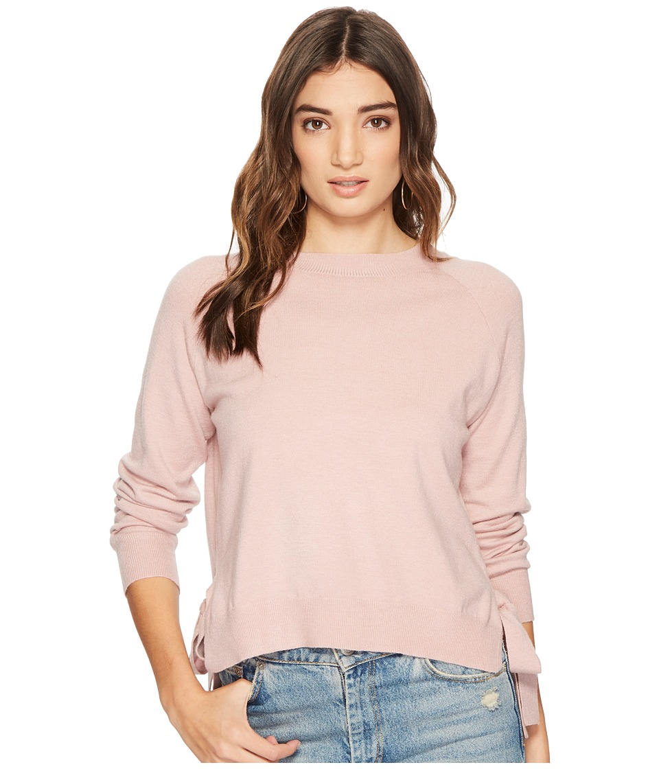 J.O.A. - Knit Top with Side Tie (Rose) Womens Clothing