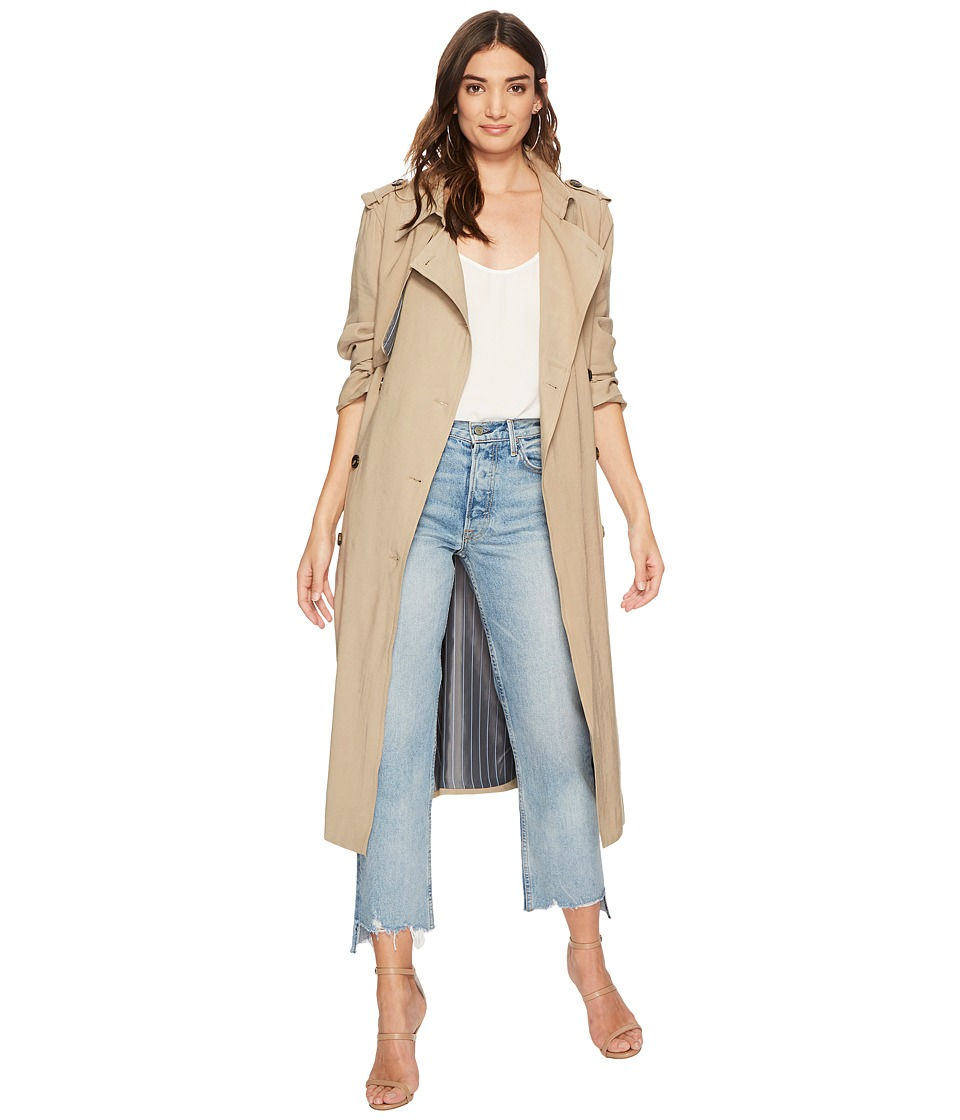 J.O.A. - Double Breast Trench Coat (Latte) Womens Coat