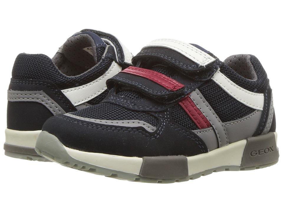 Geox Kids - Alfier 2 (Toddler/Little Kid) (Navy/Grey) Boys Shoes