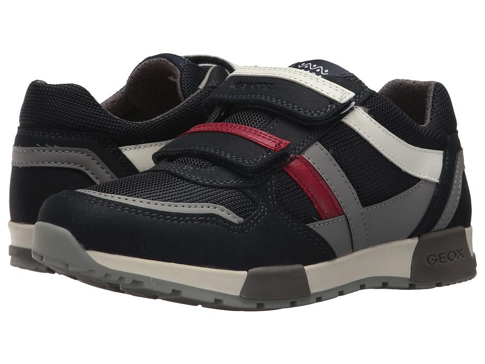 Geox Kids - Alfier 2 (Big Kid) (Navy/Grey) Boys Shoes