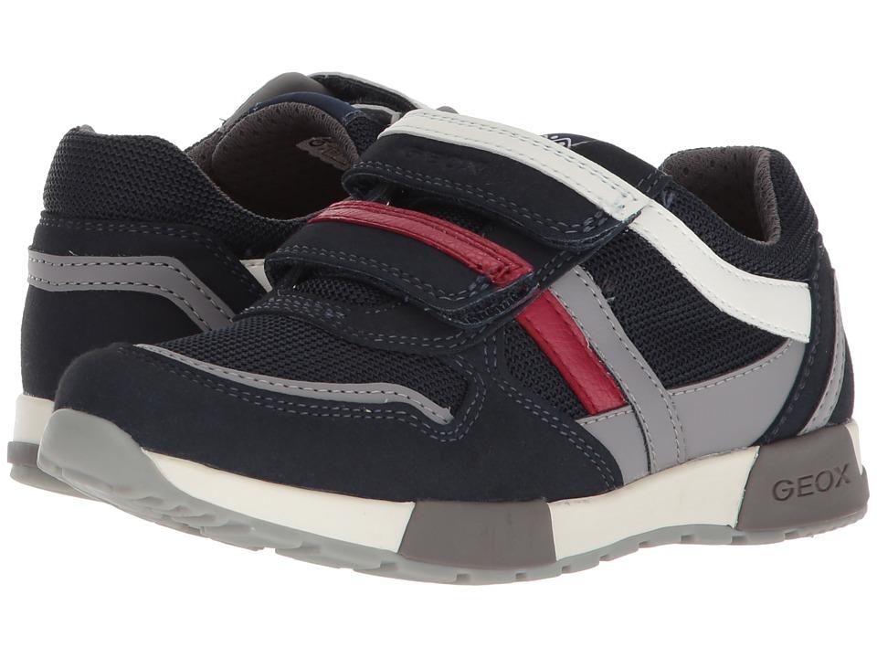 Geox Kids - Alfier 2 (Little Kid/Big Kid) (Navy/Grey) Boys Shoes
