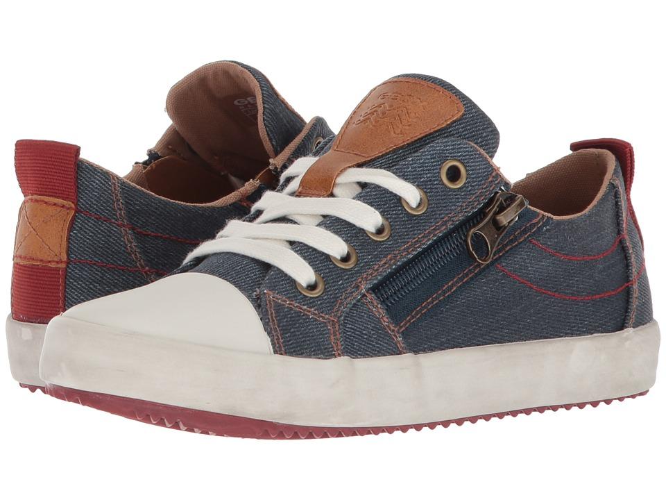 Geox Kids - Alonisso 18 (Little Kid/Big Kid) (Blue/Dark Red) Boys Shoes