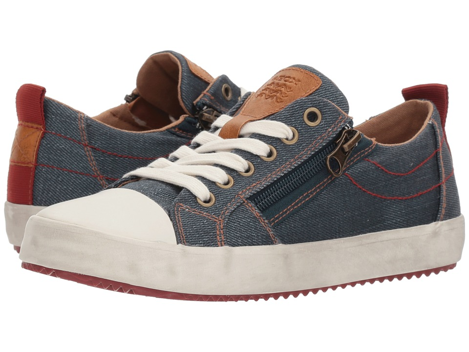 Geox Kids - Alonisso 18 (Big Kid) (Blue/Dark Red) Boys Shoes
