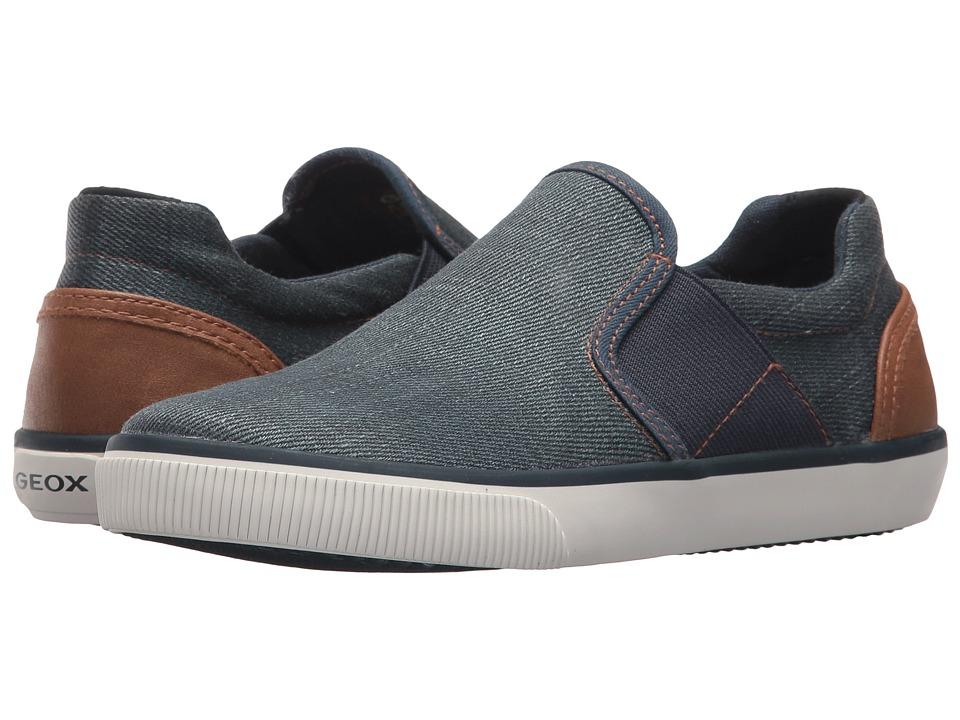 Geox Kids - Kilwi 10 (Little Kid/Big Kid) (Blue/Light Brown) Boys Shoes