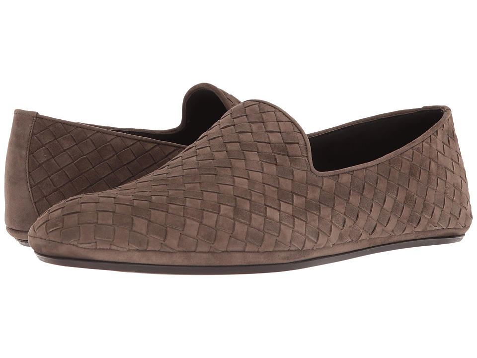 Bottega Veneta - Intrecciato Suede Loafer (New Steel) Mens Flat Shoes
