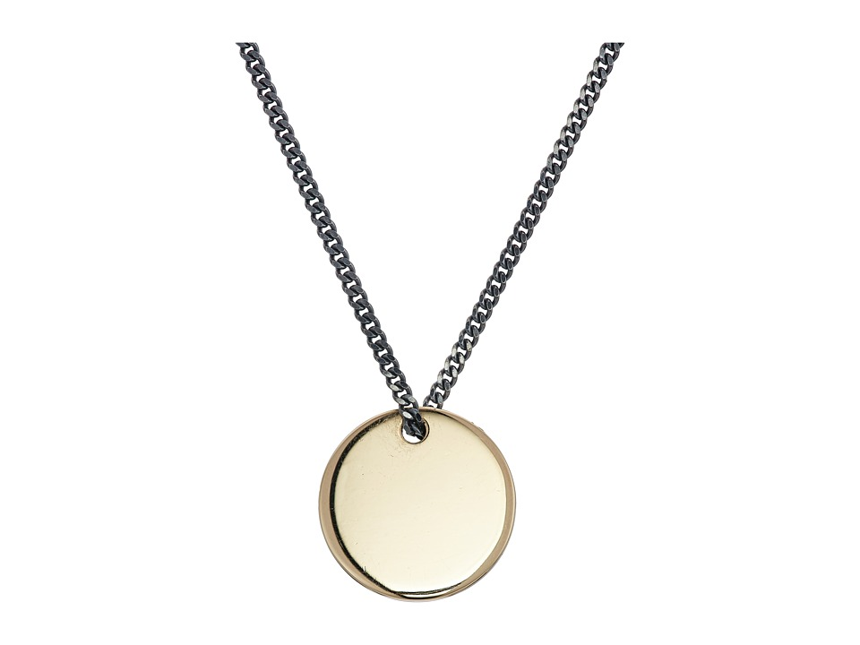 Miansai - Fusion Pendant Necklace (Polished Gold/Silver) Necklace