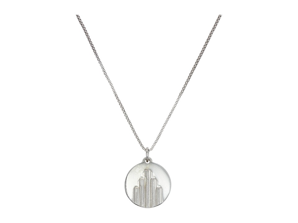 Miansai - Deco Pendant Necklace (Polished Silver) Necklace
