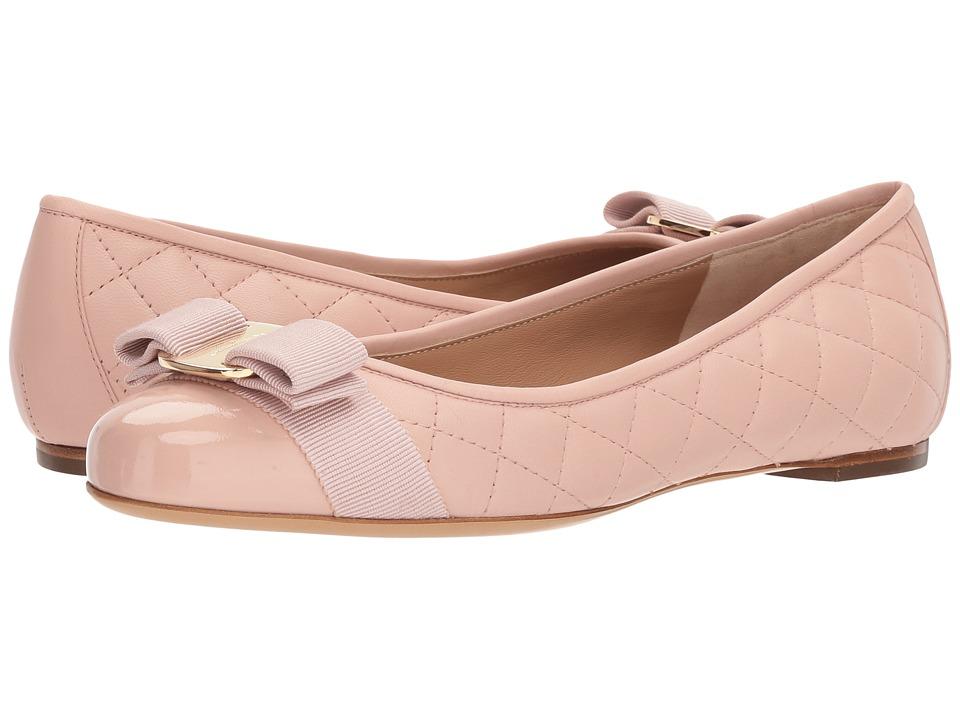 Salvatore Ferragamo Varinaq (Bon Bon/Bon Bon/Nappa Bon Bon) Women's Dress Flat Shoes