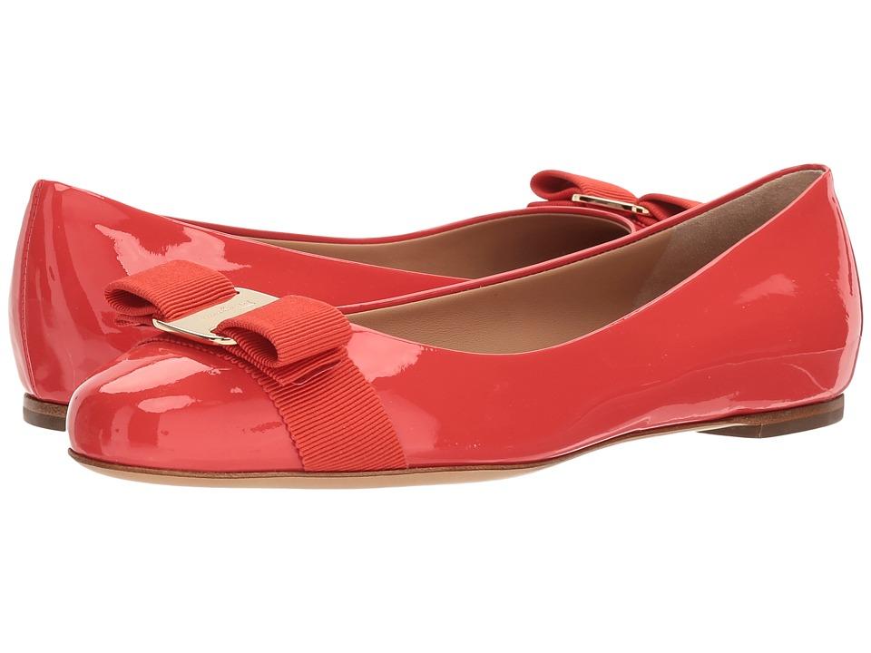 Salvatore Ferragamo - Varina (Coral/Cart Pelli/Verniciate x Scarpe) Womens Slip on  Shoes