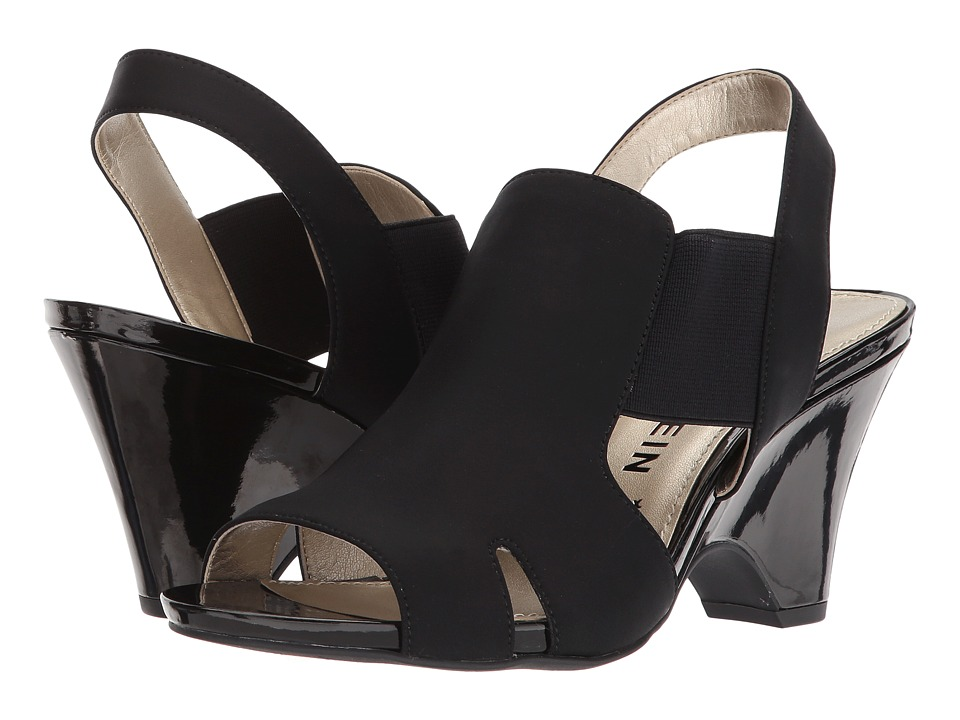 Anne Klein - Grand (Black/Black) Womens Dress Sandals