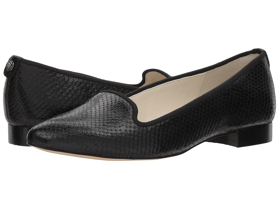 Anne Klein - Oni (Black/Black) Womens Dress Flat Shoes