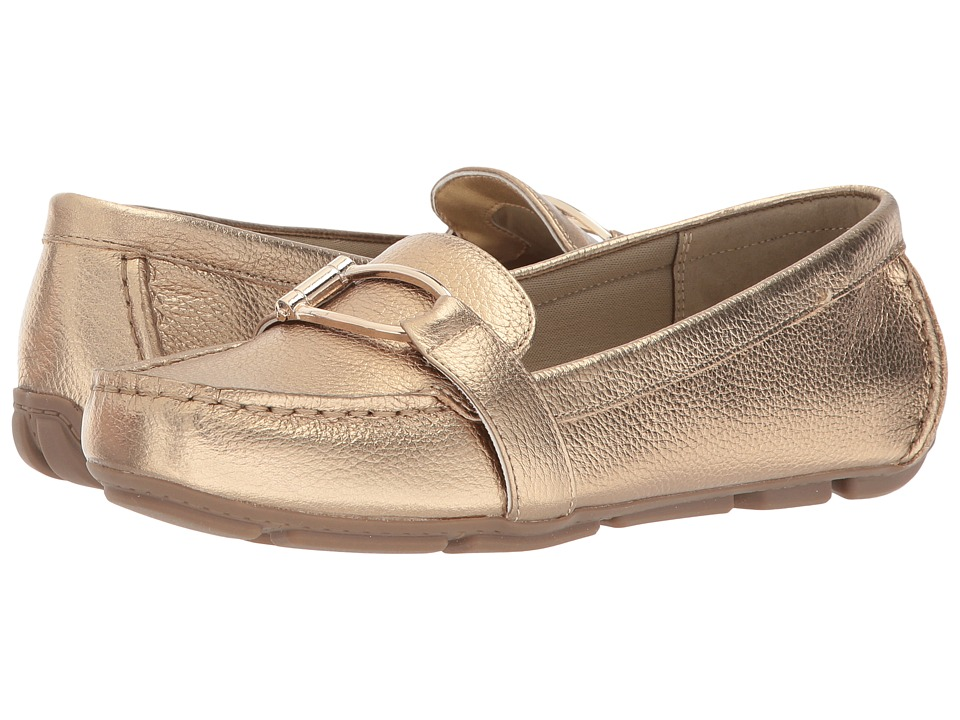 Anne Klein - Petra (Gold Leather) Womens Shoes