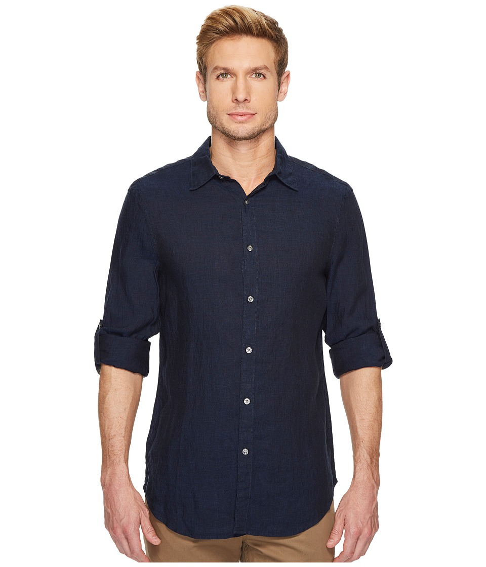 Perry Ellis Perry Ellis - Rolled Sleeve Solid Linen Shirt