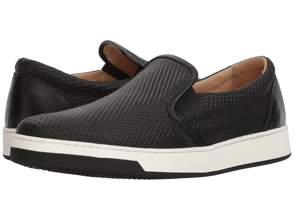 BUGATCHI - Potenza Sneaker (Nero) Mens Slip on  Shoes