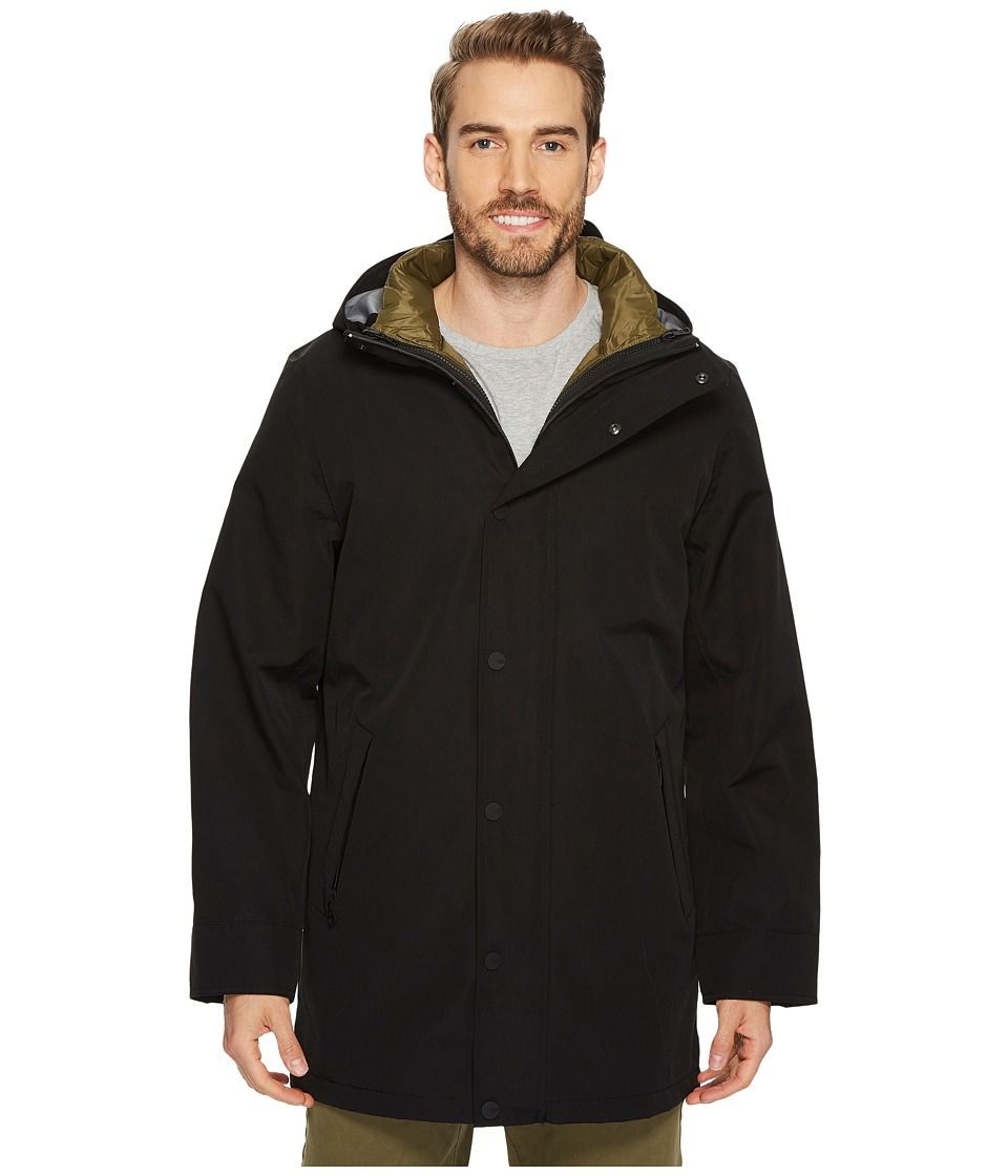 Ugg Nylon Convertible Down Parka (Black) Men's Coat