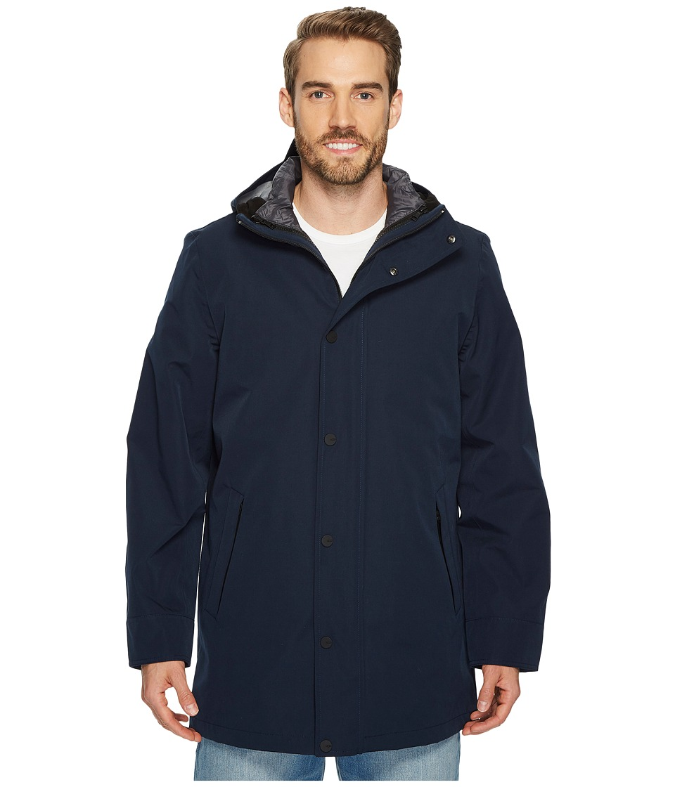Ugg Nylon Convertible Down Parka (Navy) Men's Coat