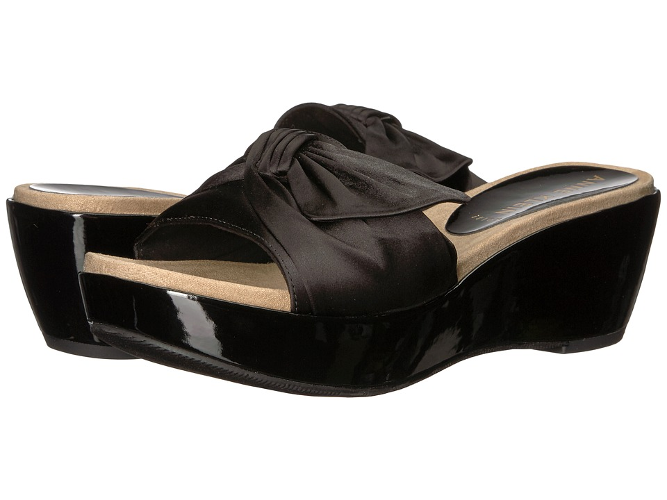 Anne Klein - Zandal (Black) Womens Wedge Shoes