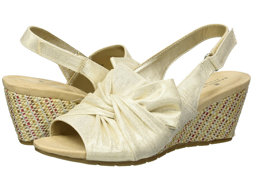 Bandolino Gayla (Gold Metallic Coated Linen) Women's Shoes