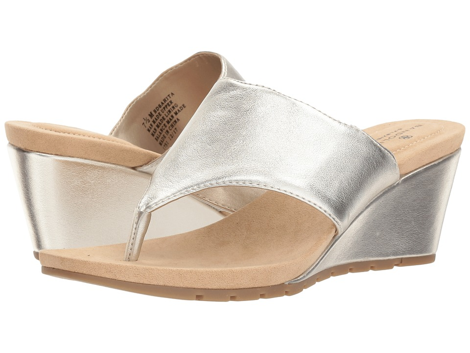 Bandolino Sarita (Platino Metallic Nappa PU) Women's Shoes
