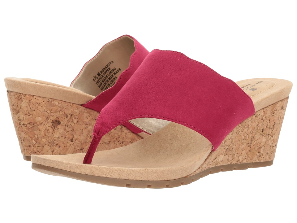 Bandolino Sarita (Raspberry Faux Suede) Women's Shoes